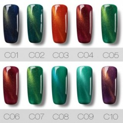 Roslind 1 Pcs 10 colors 7 ml Cat Eye Nail Gel Polish UV LED Gel Polish Varnish Quick Dry Top Coat Resin Nail Polish TSLM1