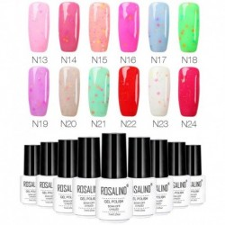 ROSALIND 7ML Cheese Lacquer Varnish Soak-off UV Nail Gel Polish vernis a ongle 3D stamping polish nagellak pintaunas Polish
