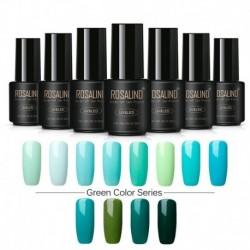 Rosalind Green Color Series Soak Off Gel Polish 7ML UV Led Gel Nail Polish Quick Dry Pigment Nail Art Decoration DIY Manicure
