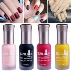 1PCS 12 ML Matte Gel Nail Polish Nail Art Nail Gel Polish UV LED Effect Gel Polish Semi Permanent Varnish Dropship 1.22