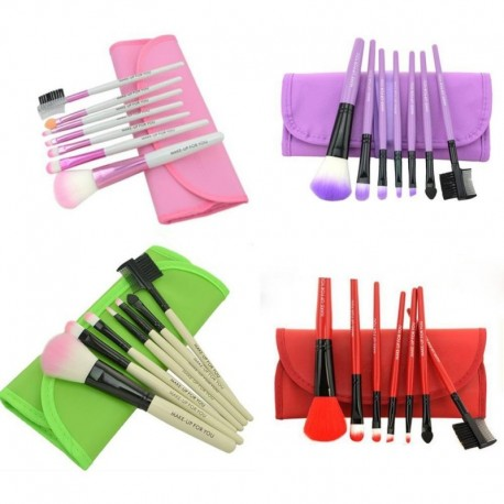 New 7PCS Pro Professional Makeup 7pcs Brush Eye&Face Set Brushes Cosmetic Brush Tool LM7993