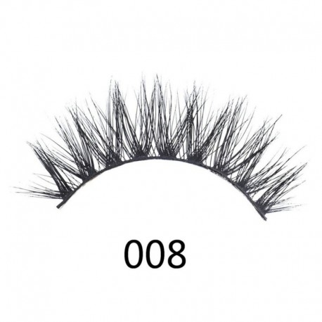 1Pair 3D Mink Hair False Eyelashes Beauty Long Curly Fake Lashes Eye Makeup Natural Hair Volume Eyelash Extension Supplies