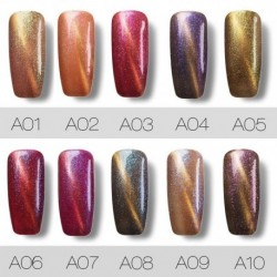 Roslind 1 Pcs 12 colors 7ml Colorful Cat's Eye Series Nail Gel Polish Long Last Protracted Light Therapy Polish TSLM1