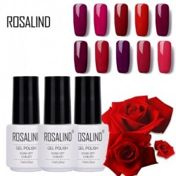 Rosalind Brand Wine Classic Red Nail Art Gel Cosmetics for Women 7ml Soak Off LED Red Series UV Nail Gel Polish Lot