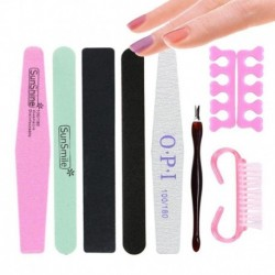 8 pcs/set Nail Art File Durable Buffing Grit Sand Block For Manicure Natural Nail Sponges Nail Art File Nail Buffers A4