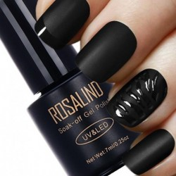 Rosalind 1pcs Matt Top Coat Nail Art UV Gel Polish 7ml Matte Top Coat LED UV Soak Off Hot Sale UV Gel Polish
