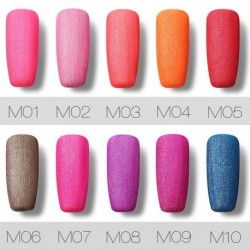 Roslind 1 Pcs 10 colors 10 ml Colorful Matte Series Nail Gel Polish Long Last Protracted Light Therapy Glue Nail Polish TSLM1