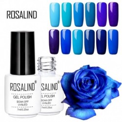1PC Professional LED UV Nail Gel Long Lasting 7ml White Bottle Soak Off Blue Style Rosalind Gel Nail Polish for Women