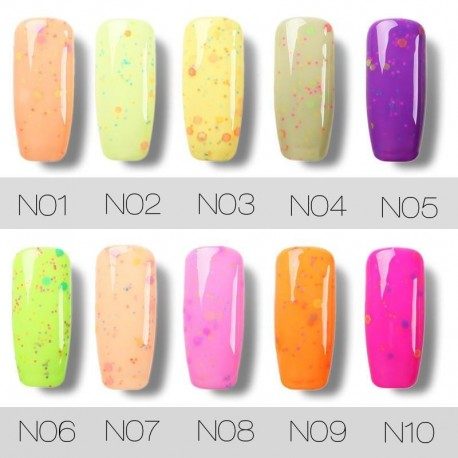 ROSALIND 1 Pcs 10 ml Cheese Series UV Gel Polish Harmless Long Lasting Protracted Light Therapy Glue for Home or Salon Nail Gel