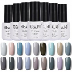 Rosalind Classic Grey Color Series Brand UV Gel Nailpolish Soak Off Long Lasting LED Lamp Nails Varnish Gel Nail Art