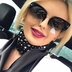 Newest Semi-Rimless Sunglasses Women Brand Designer Clear Lens Sun Glasses For Women Fashion Sunglass Vintage oculos