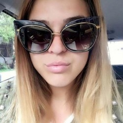 New Cat Eye Sunglasses Women Brand Designer Sexy Retro Mirror Cateye Sun Glasses for Ladies Female Shades UV400