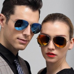 Summer Hot Classic Aviator Colored Sunglasses Polarized Mirror Metal Frame TAC Polaried lenses glasses for Male Female