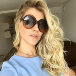 newest fashion women round sunglasses oversize sunglasses for female shades celebrity style Retro woman Spectacles