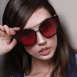 Fashion Personality Women Cat Eye Sunglasses Brand Designer Metal Frame Twin-Beams Luxury Sun Glasses Eyewear MA038